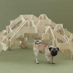 geometric pieces by kengo Kuma